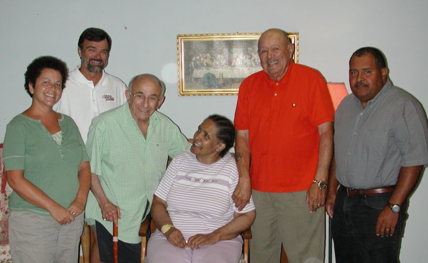 Naomi Hester (center) with family members and board members of the Outer Banks Community Foundation Board at the establishment of a fund in her name.